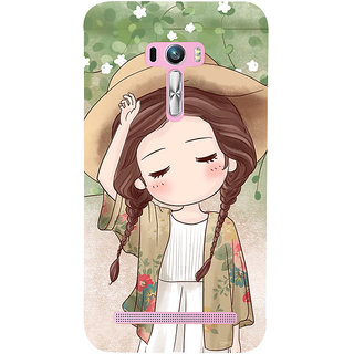 ifasho Lovely Girl with Hat Back Case Cover for Asus Zenfone Selfie