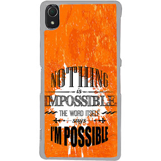 ifasho Good Quote on Achivement Back Case Cover for Sony Xperia Z3