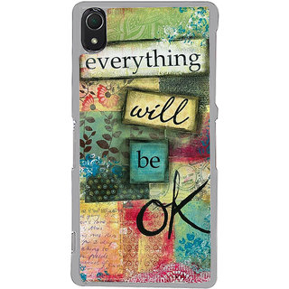 ifasho everything will be ok quotes Back Case Cover for Sony Xperia Z3