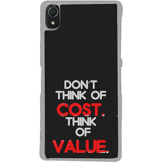 ifasho life Quotes Back Case Cover for Sony Xperia Z3