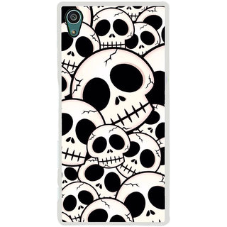 ifasho Modern  Design skeleton Pattern Back Case Cover for Sony Xperia Z5