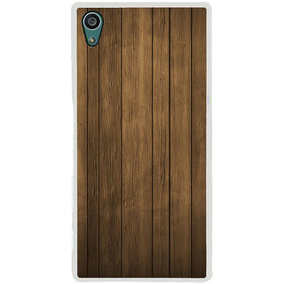 ifasho Brown Wooden Pattern Back Case Cover for Sony Xperia Z5
