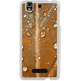 ifasho water Drop on brown leaf Back Case Cover for Yureka