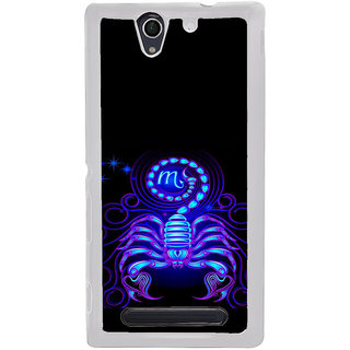 ifasho zodiac sign scorpio Back Case Cover for Sony Xperia C4
