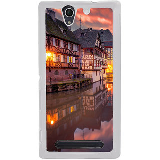 ifasho Venice City Back Case Cover for Sony Xperia C4
