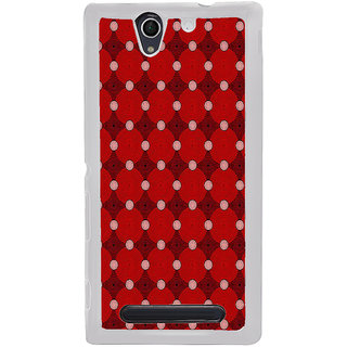 ifasho Design Clourful red and white Circle Pattern Back Case Cover for Sony Xperia C4