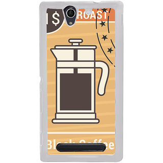 ifasho Coffee jug painting Back Case Cover for Sony Xperia C4
