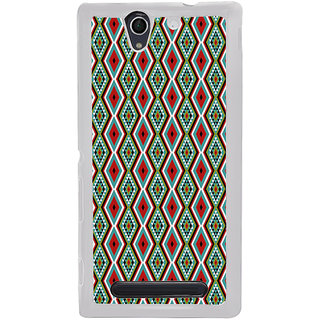 ifasho Animated Pattern colrful traditional design Back Case Cover for Sony Xperia C4