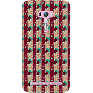 ifasho Animated Pattern design colorful flower in vertical s3Dipe Back Case Cover for Asus Zenfone Selfie