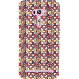 ifasho Animated Pattern colrful design leaves Back Case Cover for Asus Zenfone Selfie