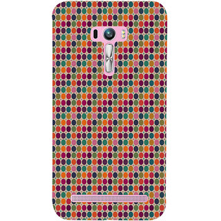 ifasho Animated Pattern  littel and Big colourful Circle Back Case Cover for Asus Zenfone Selfie