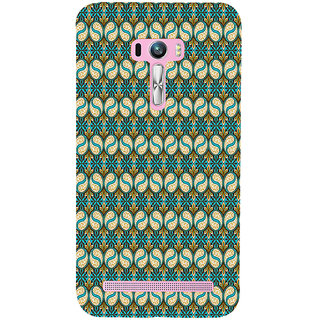 ifasho Animated Pattern design colorful flower in royal style with lines Back Case Cover for Asus Zenfone Selfie