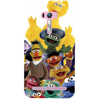 ifasho Cartoon Soft face many cartoons characters Back Case Cover for Asus Zenfone Selfie