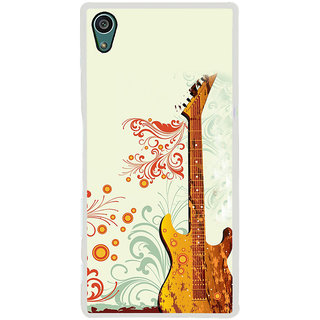 ifasho Modern Art Design Pattern Music Instrument Guitar Back Case Cover for Sony Xperia Z5