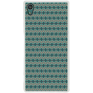 ifasho Animated Pattern of Chevron Arrows royal style Back Case Cover for Sony Xperia Z5