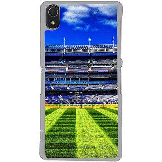 ifasho Football stadium field Baseball field Back Case Cover for Sony Xperia Z3