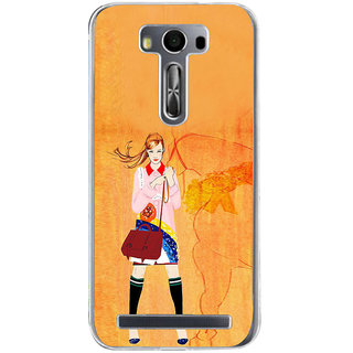 ifasho Girl with Horse Back Case Cover for Zenfone 2 Laser ZE500KL