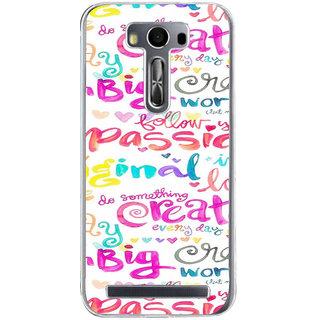 ifasho Motivatinal Quote Back Case Cover for Zenfone 2 Laser ZE500KL