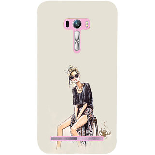 ifasho modern Girl painting Back Case Cover for Asus Zenfone Selfie