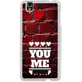 ifasho Quote On Love you and me Back Case Cover for Yureka