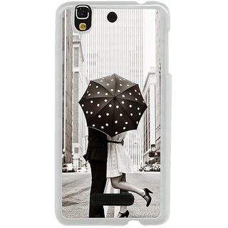 ifasho couple kissing in rain with umbrella Back Case Cover for Yureka