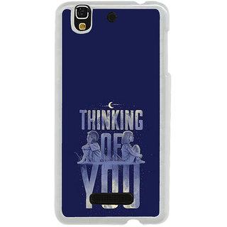 ifasho Thinking of you Back Case Cover for Yureka