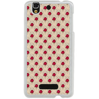 ifasho Animated Pattern small red rose flower Back Case Cover for Yureka