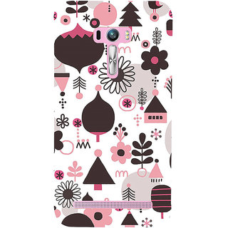 ifasho Animated Pattern colrful 3Dibal design cartoon flower Back Case Cover for Asus Zenfone Selfie