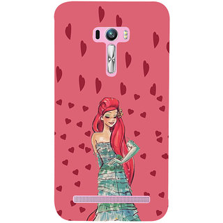 ifasho Cute Girl animated Back Case Cover for Asus Zenfone Selfie