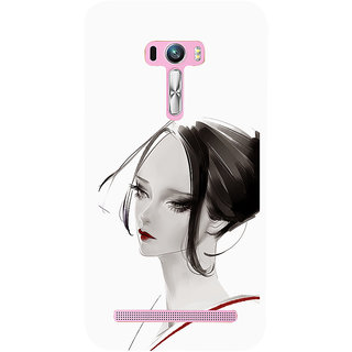 ifasho Chinese Girl Back Case Cover for Asus Zenfone Selfie