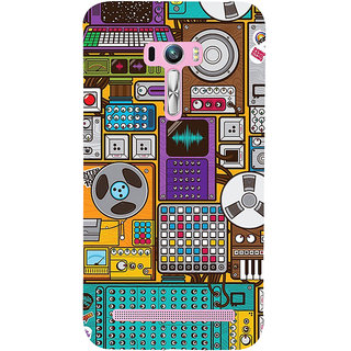 ifasho Animated Pattern design music recording cartoons tape  Back Case Cover for Asus Zenfone Selfie