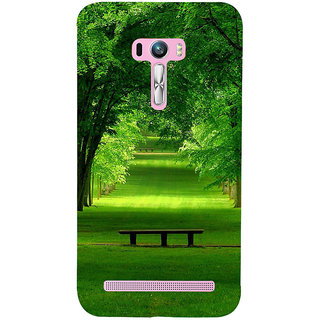 ifasho Green grass road with 3Dees on the two side Back Case Cover for Asus Zenfone Selfie