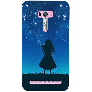 ifasho Girl playing violin Back Case Cover for Asus Zenfone Selfie