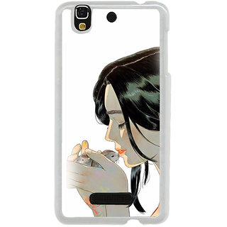 ifasho Girl kissing squirrel Back Case Cover for Yureka