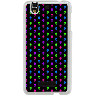 ifasho Modern  Design colourful skeleton Pattern Back Case Cover for Yureka