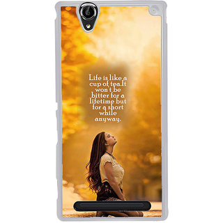ifasho young Girl with quote Back Case Cover for Sony Xperia T2