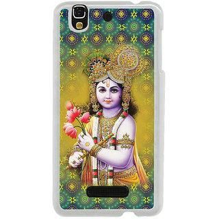 ifasho Lord Krishna in bal avtar Back Case Cover for Yureka
