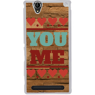 ifasho Quote On Love you and me Back Case Cover for Sony Xperia T2