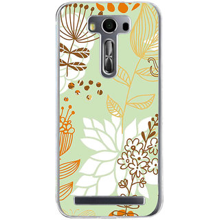 ifasho Animated Pattern painting colrful design cartoon flower with leaves Back Case Cover for Zenfone 2 Laser ZE500KL