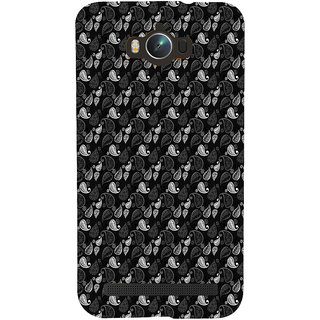 ifasho Animated Pattern design black and white flower in royal style Back Case Cover for Asus Zenfone Max