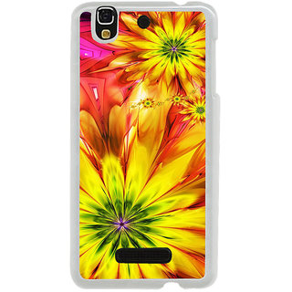 ifasho Flower Design multi color Back Case Cover for Yureka