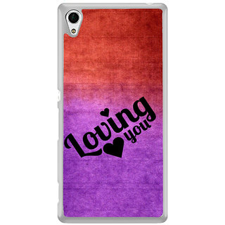 ifasho Loving you Back Case Cover for Sony Xperia Z3 Plus