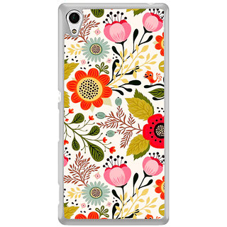 ifasho Animated Pattern colrful design flower with leaves Back Case Cover for Sony Xperia Z3 Plus