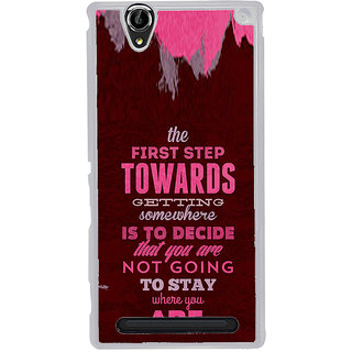 ifasho Kowledge quotes Back Case Cover for Sony Xperia T2