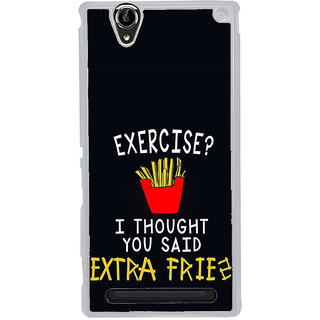 ifasho Quotes on exercise Back Case Cover for Sony Xperia T2