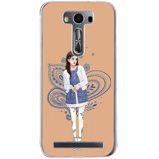 ifasho Beautiful Girl Back Case Cover for Zenfone 2 Laser ZE500KL