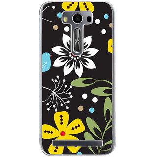 ifasho Animated Pattern birds and flowers Back Case Cover for Zenfone 2 Laser ZE500KL