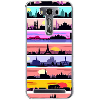 ifasho Modern Art Design Pattern tower temple building Back Case Cover for Zenfone 2 Laser ZE500KL