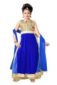 Aarika Girls Self Design Premium Net Palazzo Suit Set