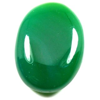 11.75 Ratti 10.78 Carat Loose Natural Green Onyx Gemstone For Astrological Purpose